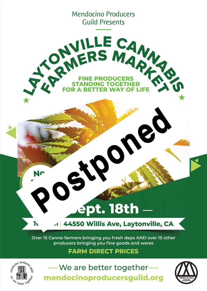 market postponed flyer